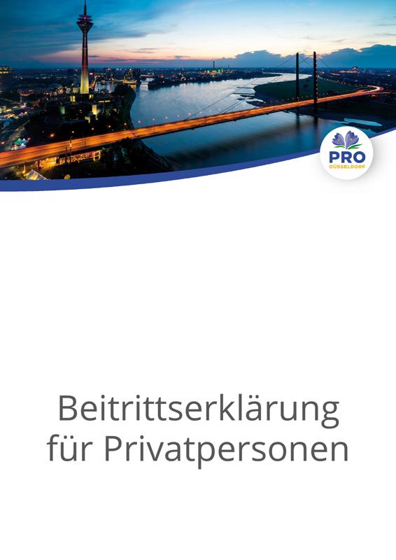 Beitrittserklärung für Privatpersonen